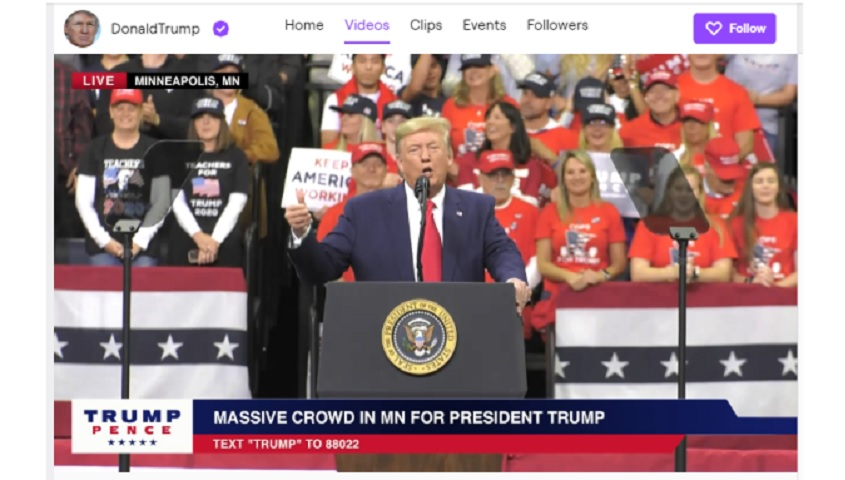 trump banned from twitch
