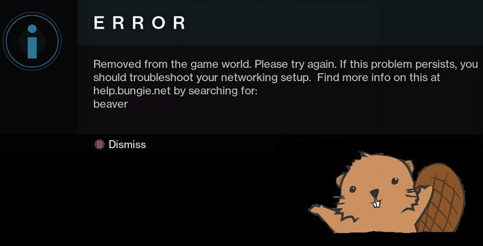 destiny beaver error