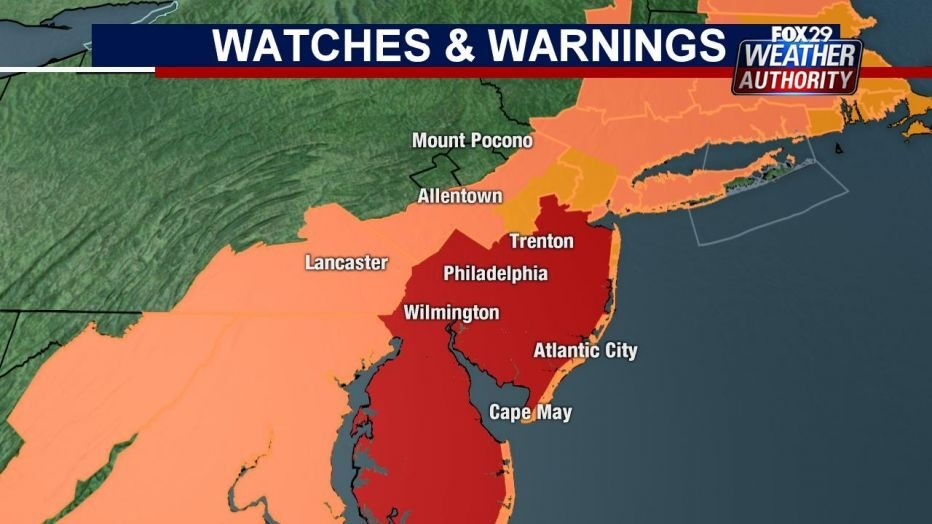 philly heat warning