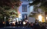 protest lindsey grahams house