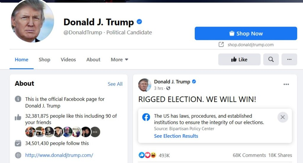 Trump on Facebook