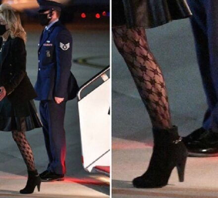 Jill Biden's Fishnet Tights turned heads, sparked reactions 1